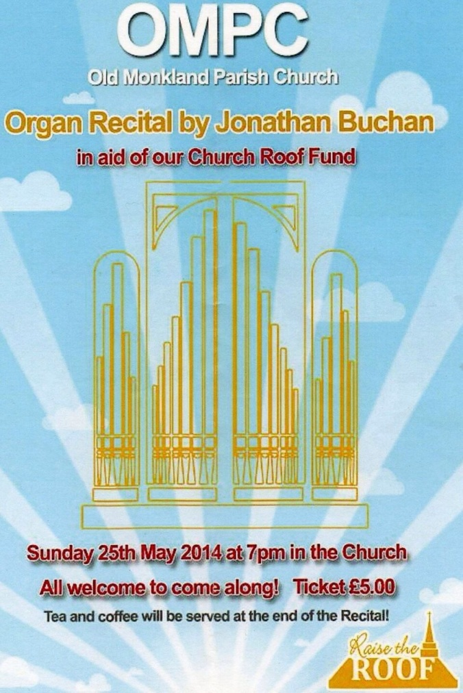 Programme includes music by Handel, Martin Shaw, Graham Morrison, Flor Peeters, Bizet, Bach and T.T.Noble, plus 4 vocal solos and hymns for all.