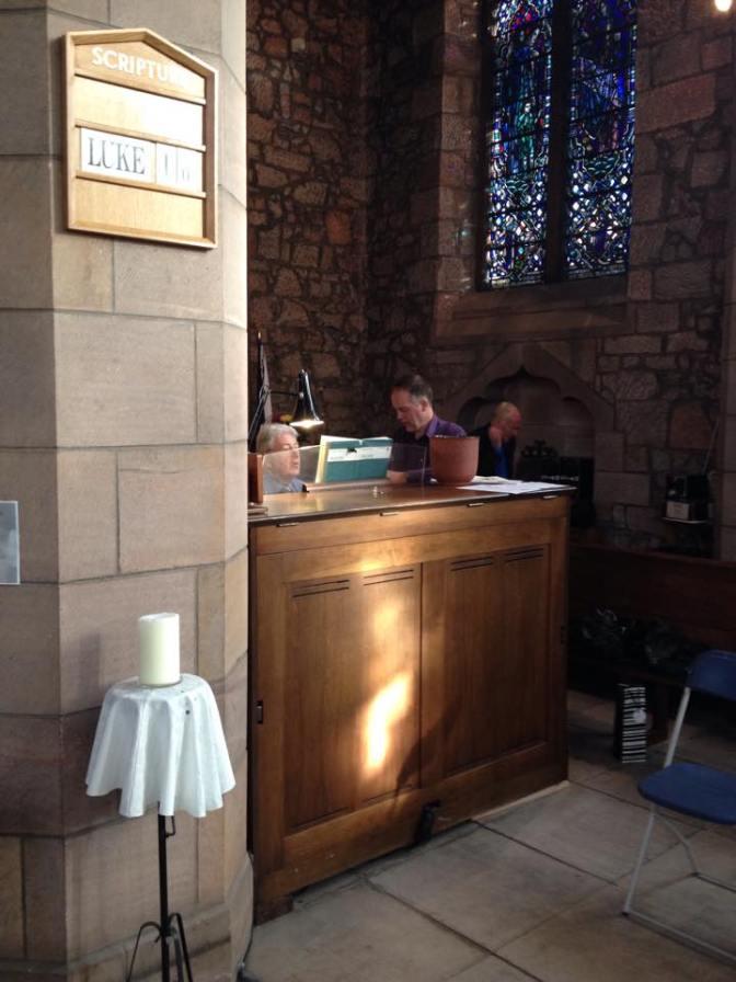 John and Neil rehearsing